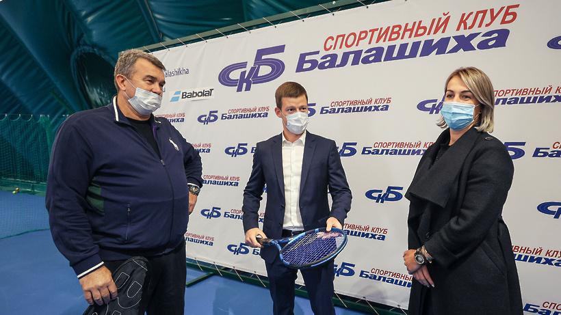 Новые площадки для тенниса планируют построить в СК «Новые горизонты» в Балашихе