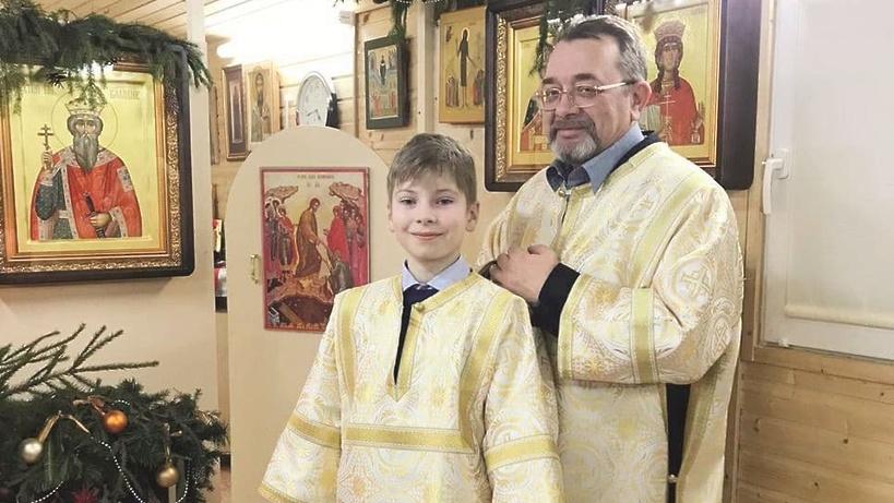 12‑летний сын офицера Росгвардии стал первым звонарем Князь‑Владимирского храма в Балашихе