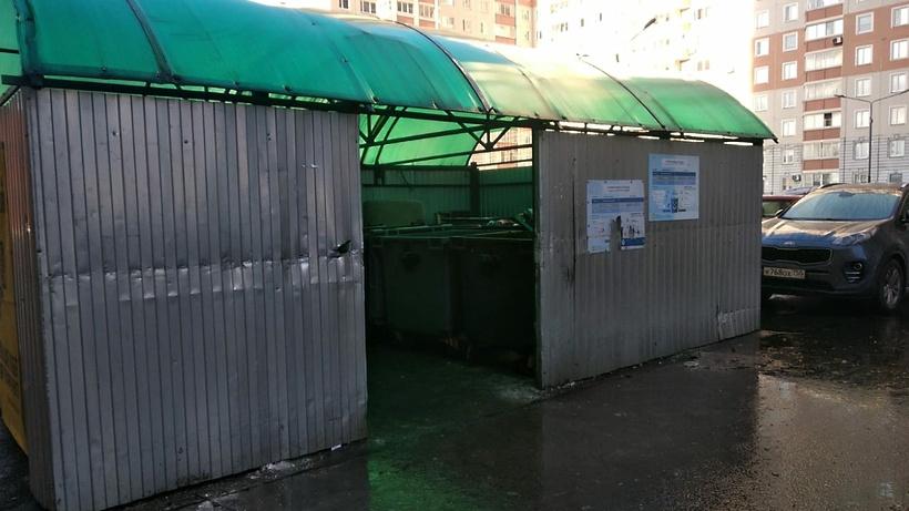 Мусор вывезли с переполненной контейнерной площадки в Балашихе после жалобы жительницы