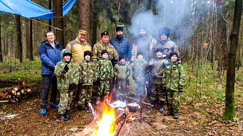 Военно‑патриотический клуб «Граница» из Мытищ провел полевой выход