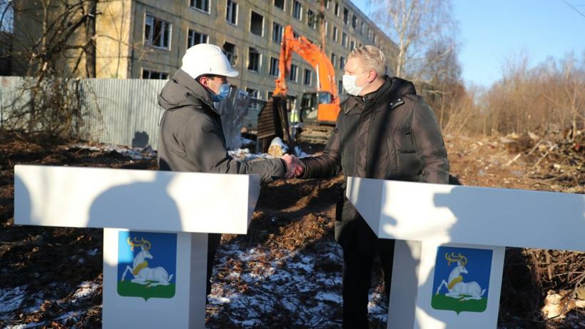Начался снос аварийного жилого дома в Больших Вяземах Одинцовского округа