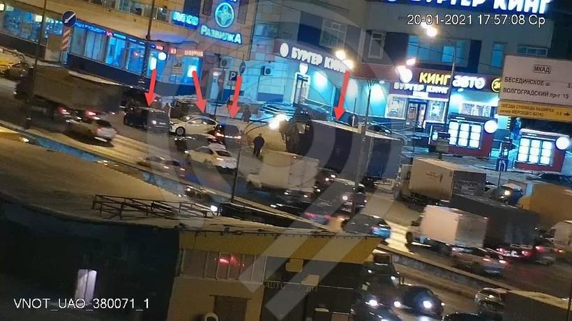 Четыре автомобиля столкнулись на юго‑востоке МКАД