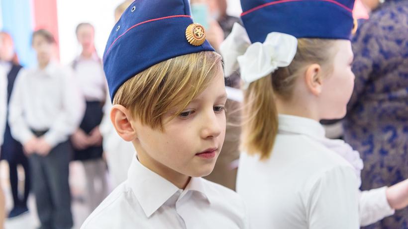 Кадетские погоны вручили ученикам спецкласса гимназии Балашихи