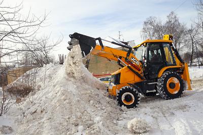 Около 735 тыс квадратных метров территорий Балашихи расчистили от снега и наледи за сутки