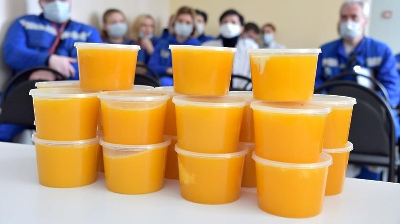 180 кг меда передали медикам подстанции скорой помощи и больницы Балашихи