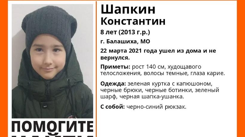 Пропавшего в Балашихе 8‑летнего мальчика нашли живым