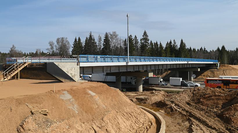 Транспортную развязку в Солнечногорске построили на 73%