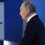 21 апреля 2021. Президент РФ Владимир Путин выступает с ежегодным посланием Федеральному Собранию.