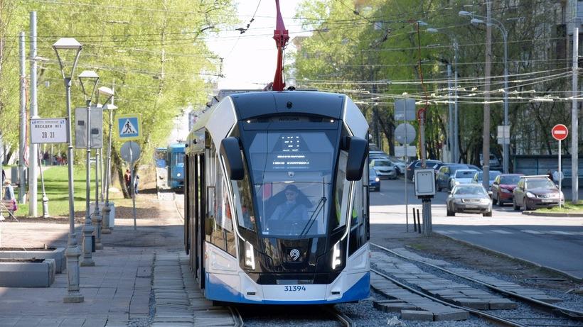 Трамваи задерживаются на Волоколамском шоссе в столице по техническим причинам