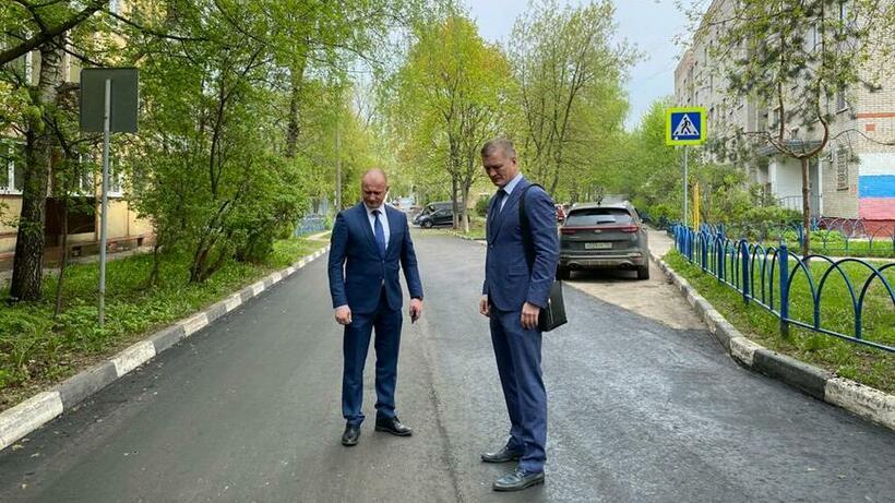 В поселке Красково Люберец отремонтировали дорогу к школе
