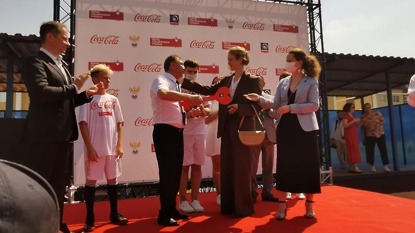 Наталья Водянова открыла инклюзивную спортплощадку в Королеве