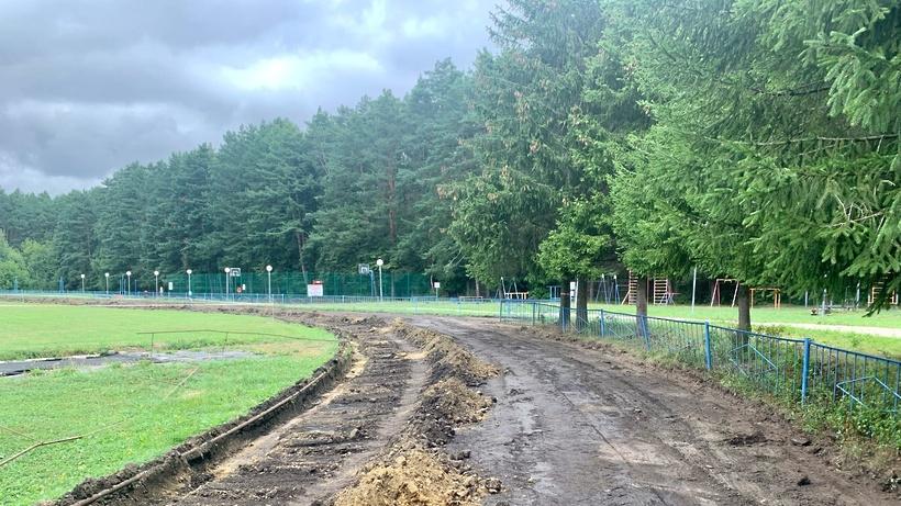 Покрытие беговых дорожек демонтировали на стадионе ФСК «Заречье» в Подольске