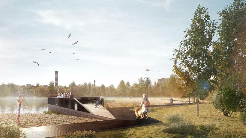 Реализация проекта по благоустройству берега озера в Электрогорске начнется в 2022 г