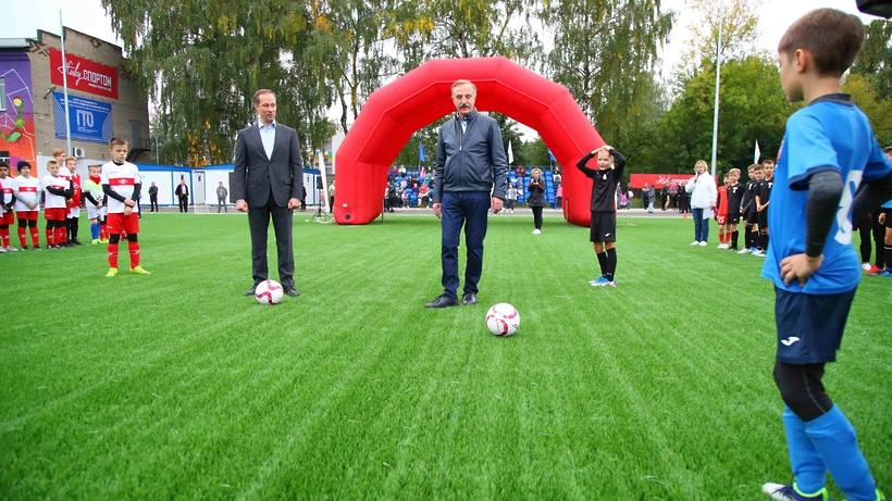 Обновленный стадион «Электрон» торжественно открыли в поселке Красково Люберец